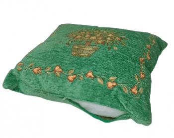 Cojines chenilla verde maceta 50 x 50 - 2
