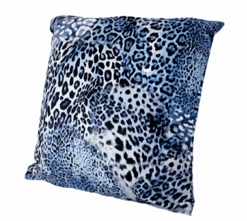 Cojín de leopardo azul 45 x 45 - 2