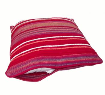 Cojín de rayas fucsia 45x45 - 3