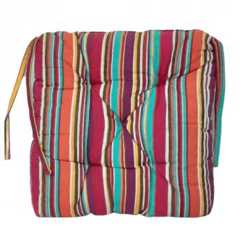 Cojín de silla de rayitas de colores 40 x 40 - 1