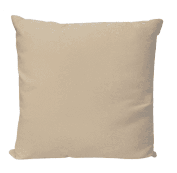 Cojín suave beige 45 x 45
