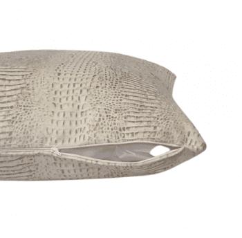 Cojín adamascado tostado 40 x 60 - 1