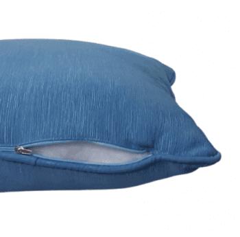 Cojines otomán azul con cordón 45 x 45