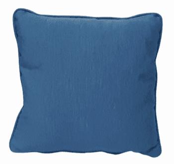 Cojines otomán azul con cordón 45 x 45 - 1