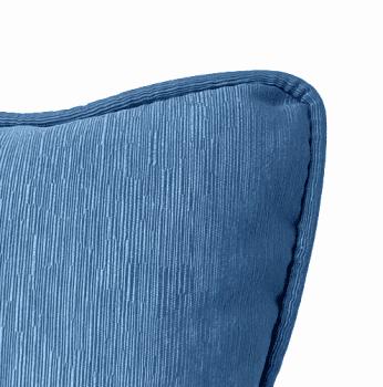 Cojines otomán azul con cordón 45 x 45 - 2