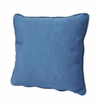 Cojines otomán azul con cordón 45 x 45 - 3