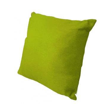 Funda cojín verde tela de saco 45 x 45