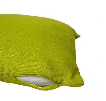 Funda cojín verde tela de saco 45 x 45 - 1