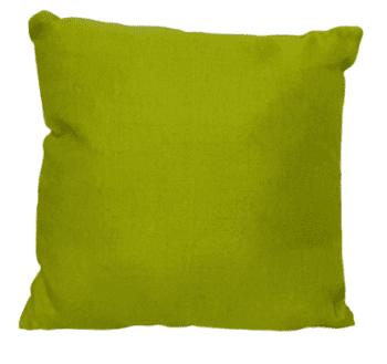 Funda cojín verde tela de saco 45 x 45 - 2
