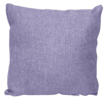Funda cojín lila tela de saco 45 x 45