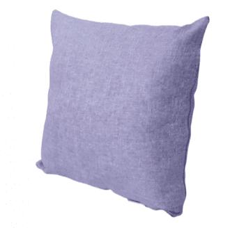 Funda cojín lila tela de saco 45 x 45 - 1