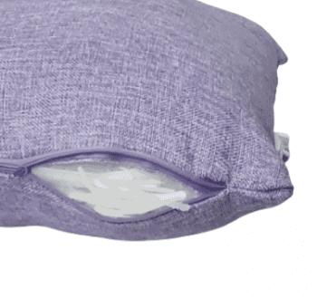 Funda cojín lila tela de saco 45 x 45 - 2