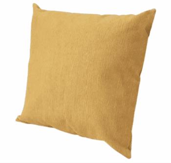 Funda cojín amarilla pana 45 x 45