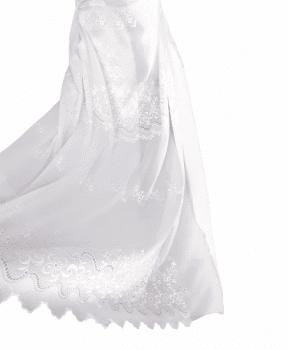 Tela visillo blanco labrado 1,85 x 2,80 = 32,99 €