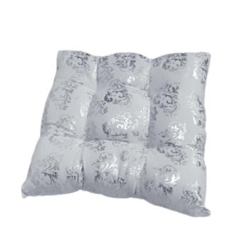 Cojines blancos y plata 40 x 40 - 1