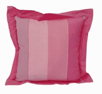 Cojines rayas rosas 40 x 40 x 5 - 1