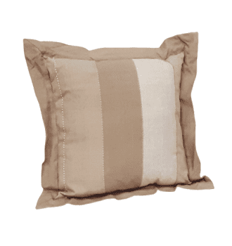 Cojines rayas anchas beige 40 x 40