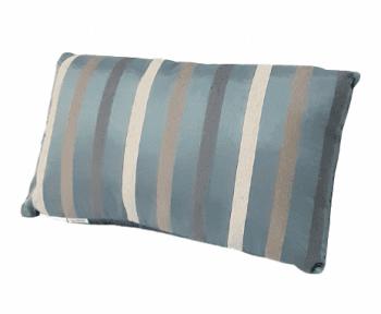 Cojín de seda azul de rayas 30 x 50