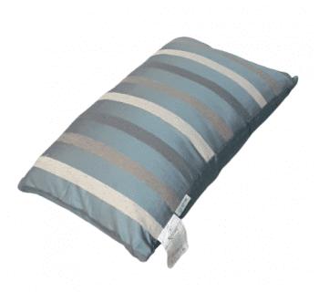 Cojín de seda azul de rayas 30 x 50 - 1
