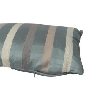 Cojín de seda azul de rayas 30 x 50 - 2
