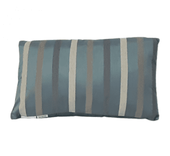 Cojín de seda azul de rayas 30 x 50 - 3
