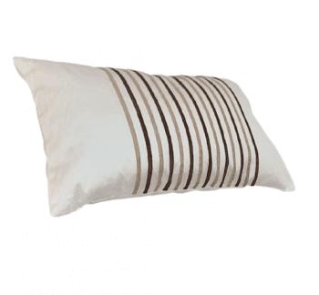 Cojines blancos rayas marrones 30 x 50 - 2