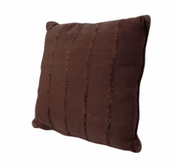 Cojín marrón  chocolate 45 x 45 - 3