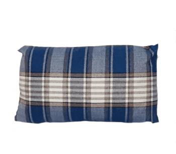 Cojines cuadros escoceses azul - 4