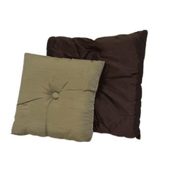Cojines de seda marrón