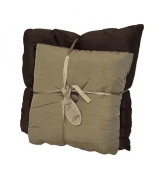 Cojines de seda marrón - 1