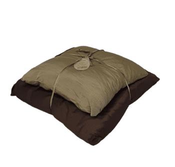 Cojines de seda marrón - 2