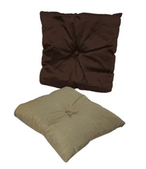 Cojines de seda marrón - 3