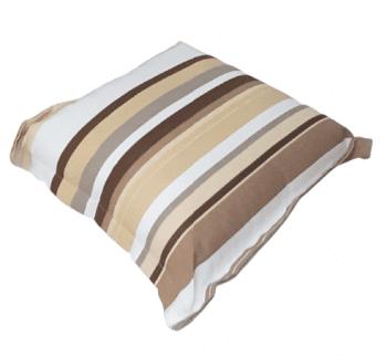 Cojines de rayas beige 40 x 40 - 1