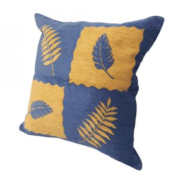 Fundas de cojines azul y amarillo 50 x 50 - 4