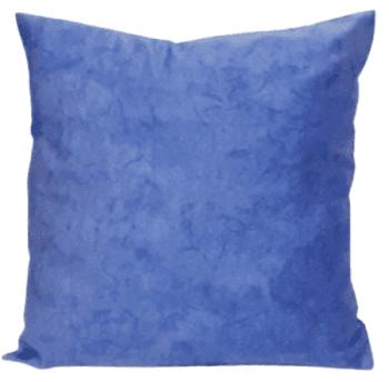Funda de cojín azul de serie mármol 45 x 45