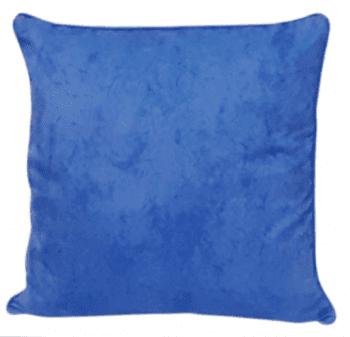 Funda de cojín azul mármol con cordón 45 x 45