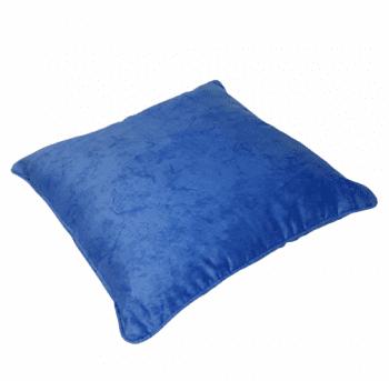 Funda de cojín azul mármol con cordón 45 x 45 - 1