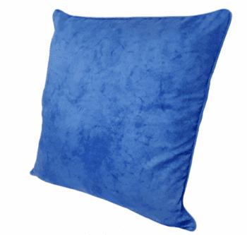 Funda de cojín azul mármol con cordón 45 x 45 - 2