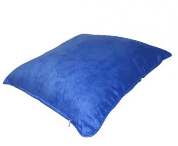 Funda de cojín azul mármol con cordón 45 x 45 - 3