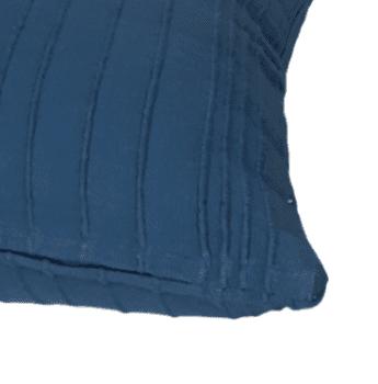 Funda de cojín azul petróleo rústica 45 x 45 - 2