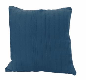 Funda de cojín azul petróleo rústica 45 x 45 - 3