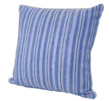 Fundas de cojín chenilla rayas azules 45 x 45