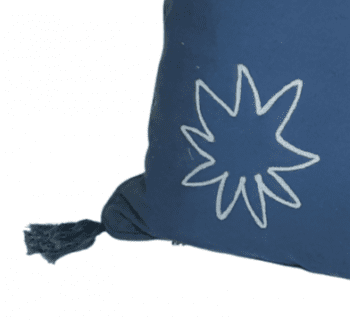 Funda de cojín azul marino con flecos 45 x 45 - 3