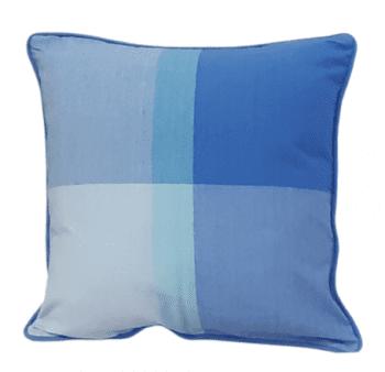 Funda de cojín de cuadros azules 45 x 45