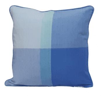Funda de cojín de cuadros azules 45 x 45 - 2