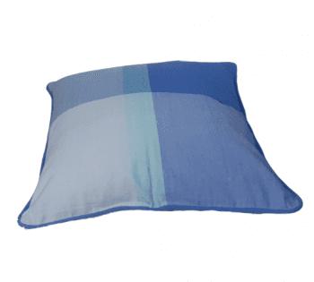 Funda de cojín de cuadros azules 45 x 45 - 3