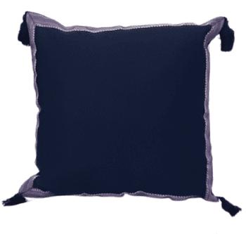 Funda de cojín árabe azul marino 45 x 45