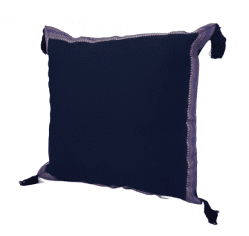 Funda de cojín árabe azul marino 45 x 45 - 3