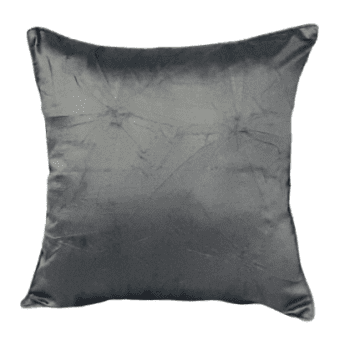 Funda de cojín de seda gris 40 x 40