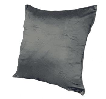 Funda de cojín de seda gris 40 x 40 - 1